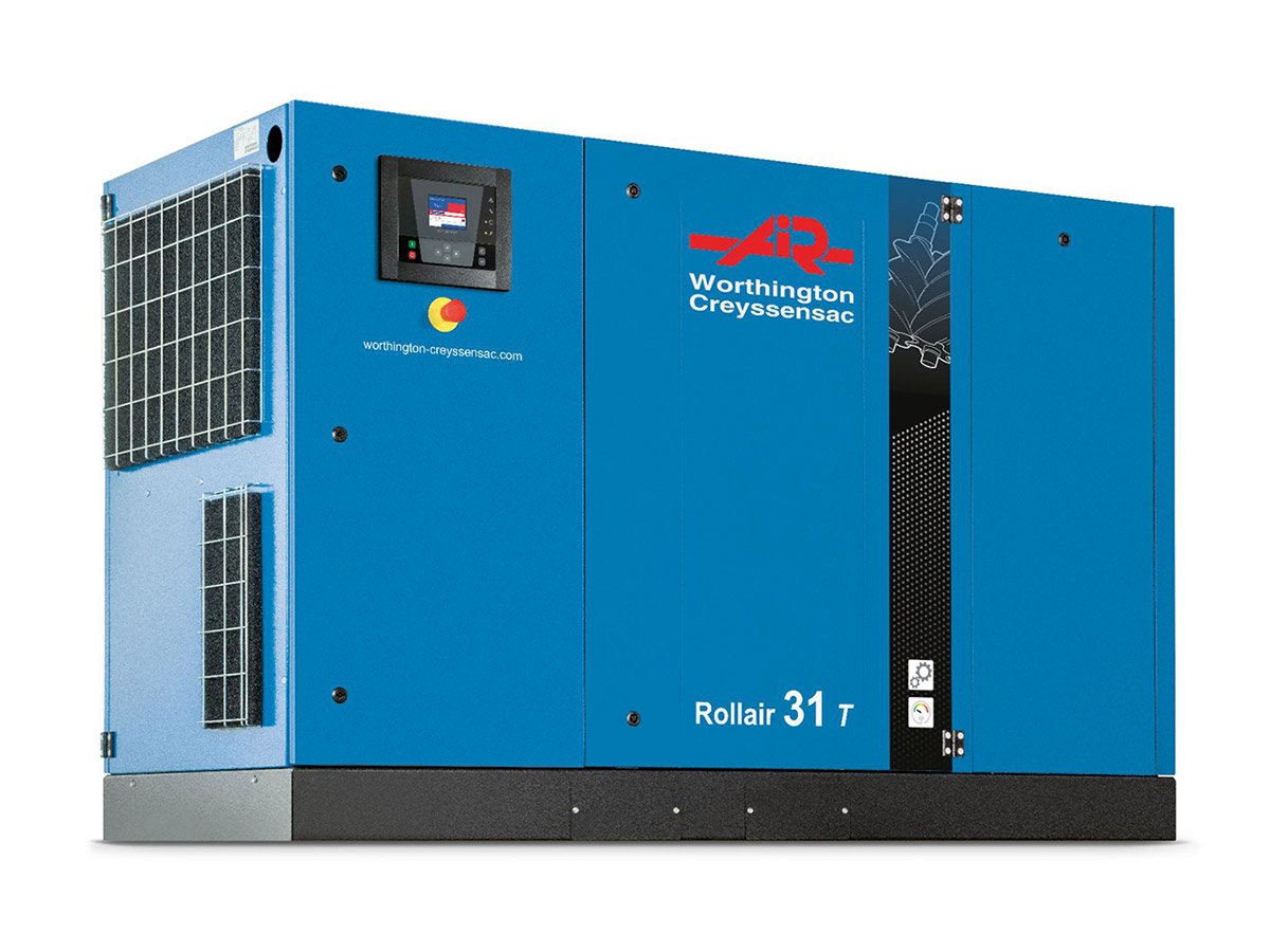 Rollair 16-31 HP Fixed Speed Screw Compressor