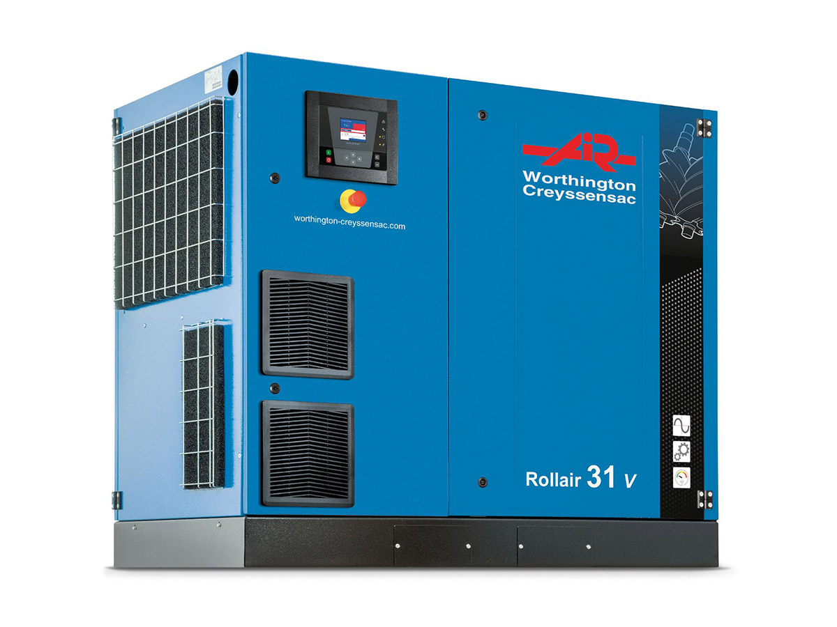 Rollair 16-31V Variable Speed Screw Compressor