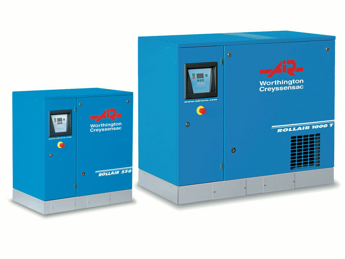 Rollair 5.5-20 HP Fixed Speed Screw Compressor
