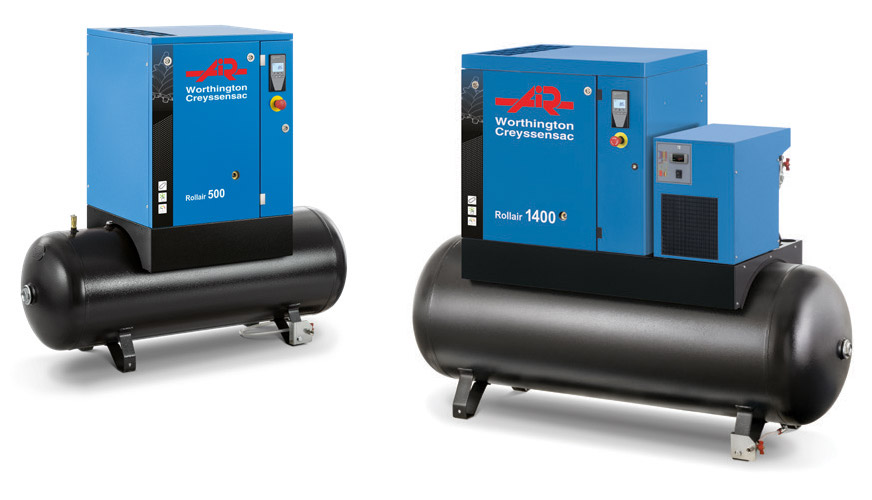 Rollair 3-20 HP Fixed Speed Screw Compressors